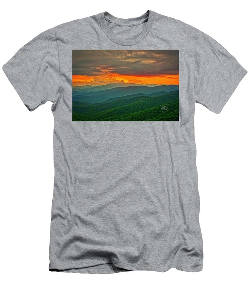 Men's T-Shirt (Athletic Fit) featuring the photograph Blowing Rock Sunset by Meta Gatschenberger