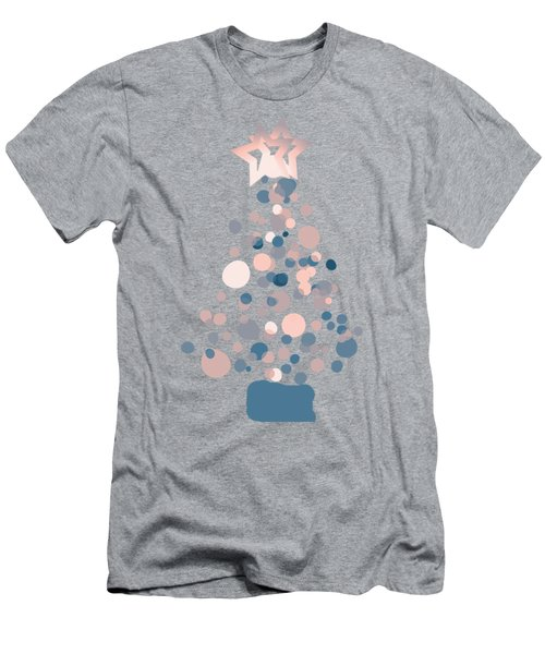Blue Confetti Christmas Tree  Men's T-Shirt (Athletic Fit)