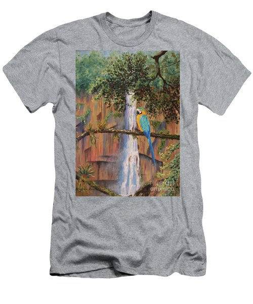 Blue Macaw Men's T-Shirt (Athletic Fit)