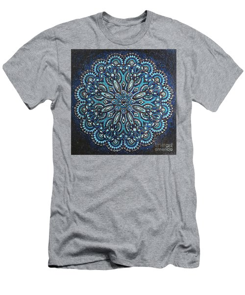 Blue Mandala Men's T-Shirt (Athletic Fit)
