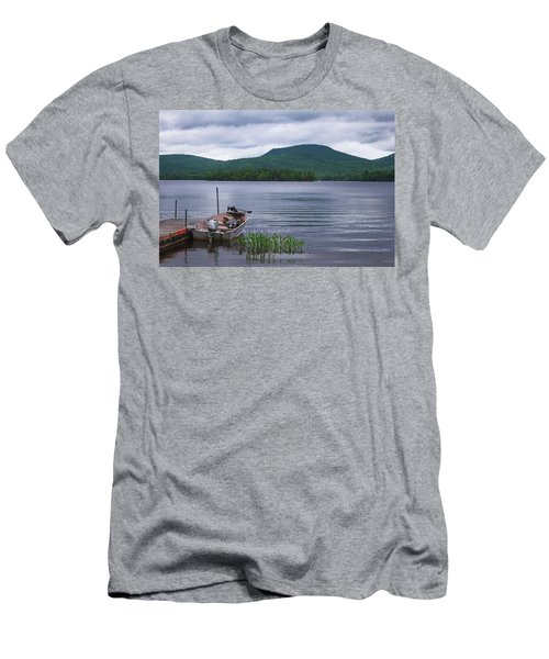 Blue Mountain Lake Men's T-Shirt (Athletic Fit)
