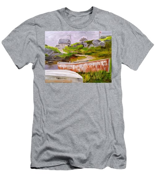 Boats At Peggy's Cove Men's T-Shirt (Athletic Fit)
