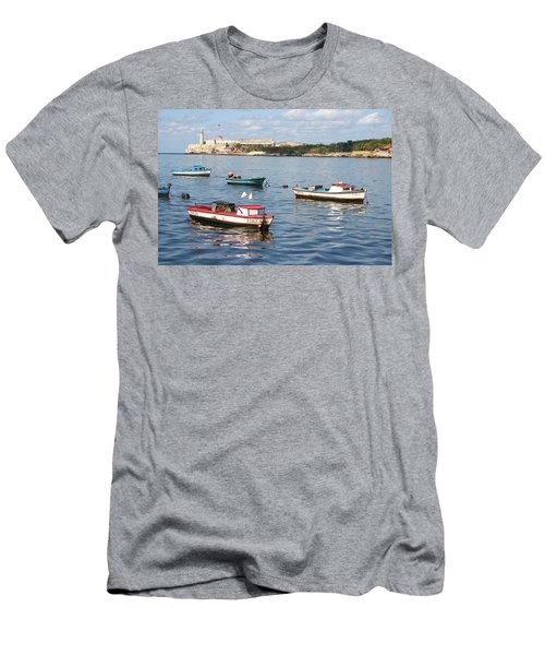 Boats In The Harbor Havana Cuba 112605 Men's T-Shirt (Athletic Fit)