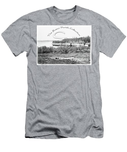 Boston Harbor, View To The Nw Men's T-Shirt (Athletic Fit)