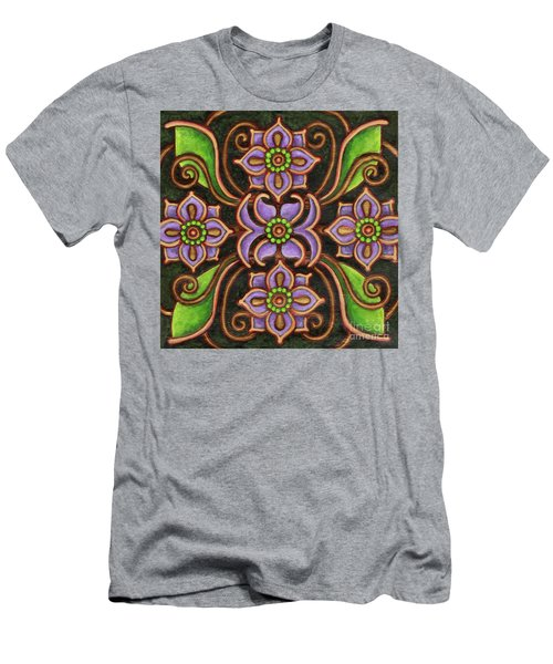 Botanical Mandala 6 Men's T-Shirt (Athletic Fit)