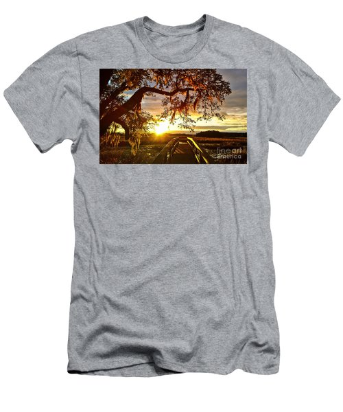 Men's T-Shirt (Athletic Fit) featuring the photograph Breaking Sunset by Robert Knight