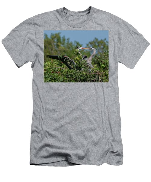 Breeding Herons Men's T-Shirt (Athletic Fit)