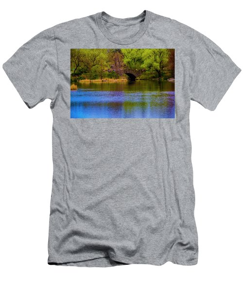 Bridge In Central Park Men's T-Shirt (Athletic Fit)