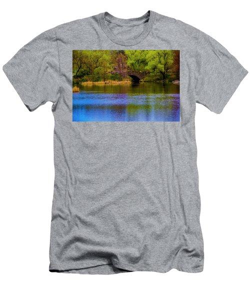 Men's T-Shirt (Athletic Fit) featuring the photograph Bridge In Central Park by Stuart Manning