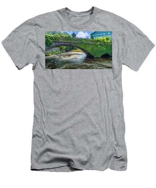 Bridge Of Flowers Men's T-Shirt (Athletic Fit)