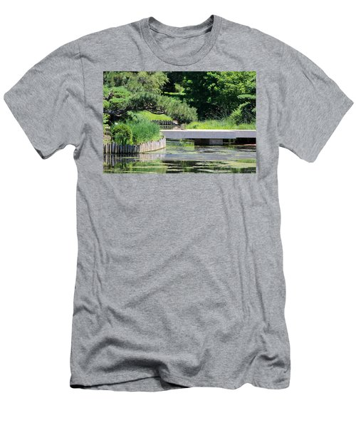 Bridge Over Pond In Japanese Garden Men's T-Shirt (Athletic Fit)