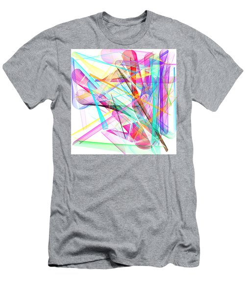 Bright Abstract Men's T-Shirt (Athletic Fit)