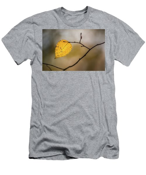 Men's T-Shirt (Athletic Fit) featuring the photograph Bright Fall Leaf 10 by Michael Arend