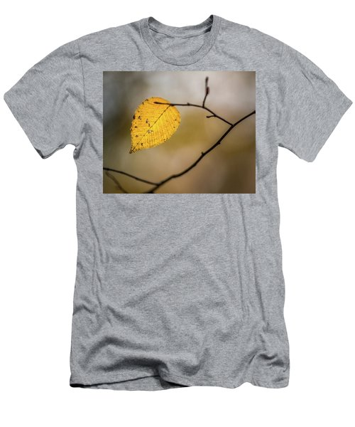 Men's T-Shirt (Athletic Fit) featuring the photograph Bright Fall Leaf 9 by Michael Arend