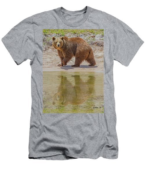 Brown Bear Reflection Men's T-Shirt (Athletic Fit)