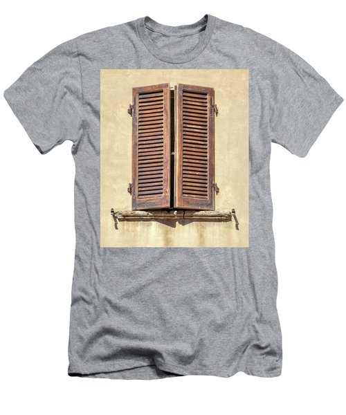 Brown Window Of Florence Men's T-Shirt (Athletic Fit)