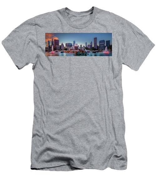 Buckingham Fountain - Panorama Men's T-Shirt (Athletic Fit)