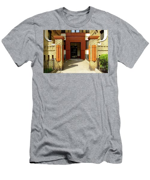 Building Entrance In Brooklyn, New York Men's T-Shirt (Athletic Fit)