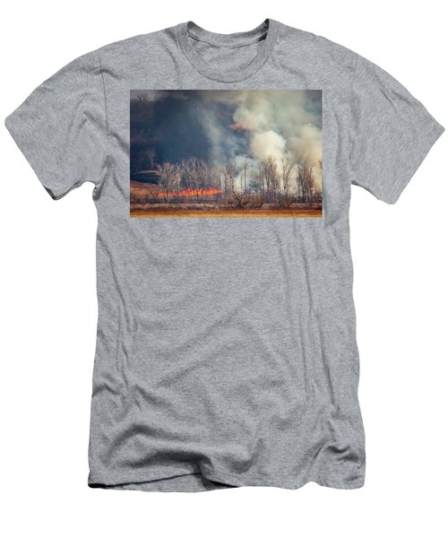 Men's T-Shirt (Athletic Fit) featuring the photograph Burning Squaw Creek by Jeff Phillippi