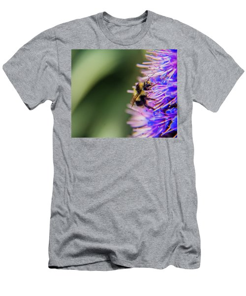 Men's T-Shirt (Athletic Fit) featuring the photograph Busy Bee by Stuart Manning