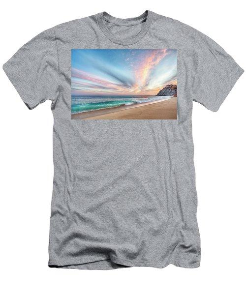Cabo San Lucas Beach Wave Sunset Men's T-Shirt (Athletic Fit)