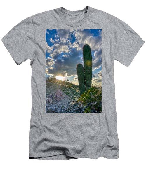 Cactus Portrait  Men's T-Shirt (Athletic Fit)