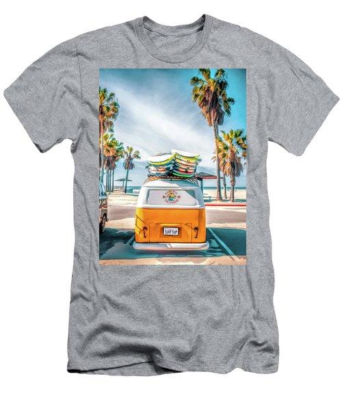 California Surfer Vw Camper Van Men's T-Shirt (Athletic Fit)