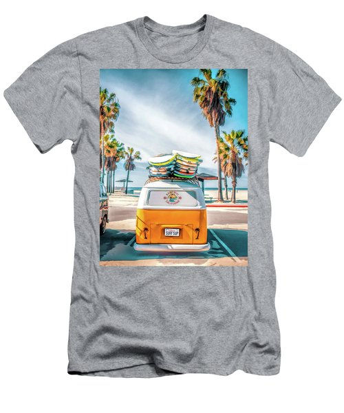 California Surfer Vw Camper Van Men's T-Shirt (Athletic Fit)
