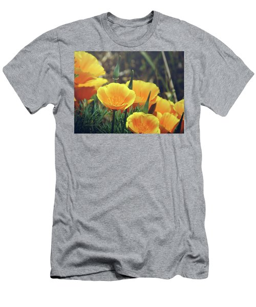 Californian Poppies In The Patagonia Men's T-Shirt (Athletic Fit)