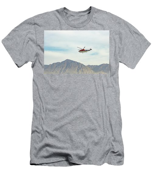 Men's T-Shirt (Athletic Fit) featuring the photograph Canadian Helicopters Sikorsky S61n C-gjqg by SR Green