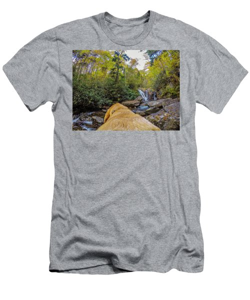 Men's T-Shirt (Athletic Fit) featuring the photograph Canin Creek Falls by Matthew Irvin