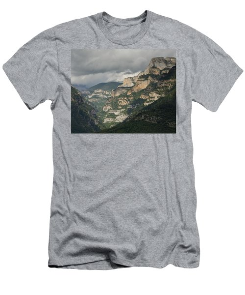 Men's T-Shirt (Athletic Fit) featuring the photograph Canyon Anisclo by Stephen Taylor