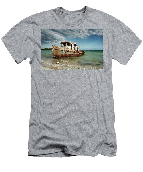 Caribbean Shipwreck 21002 Men's T-Shirt (Athletic Fit)