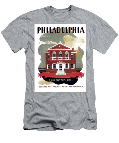 Carpenter Hall - Philadelphia - Remastered Men's T-Shirt (Athletic Fit)