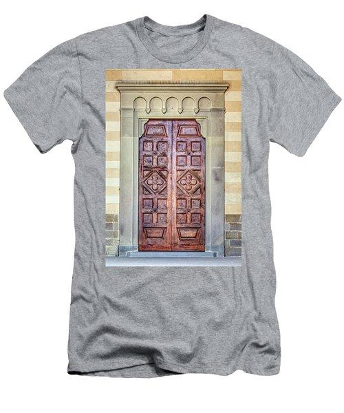 Carved Door Of Cortona Men's T-Shirt (Athletic Fit)