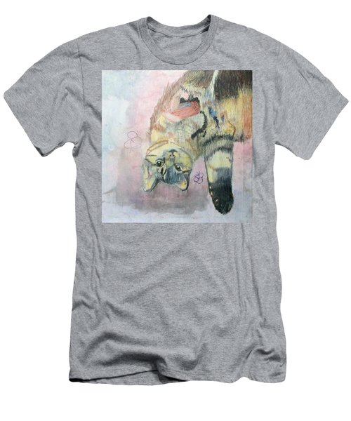 Playful Cat Named Simba Men's T-Shirt (Athletic Fit)