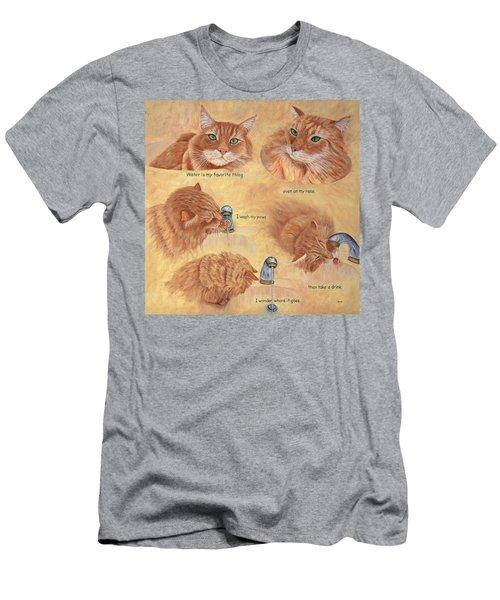 Cat Splash Men's T-Shirt (Athletic Fit)