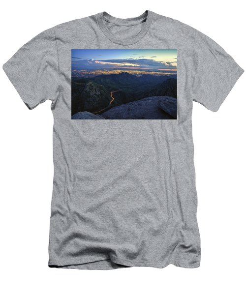 Catalina Highway And Tucson Men's T-Shirt (Athletic Fit)