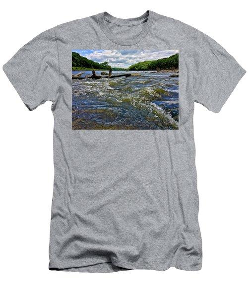 Men's T-Shirt (Athletic Fit) featuring the photograph Cedar River Iowa by Dan Miller