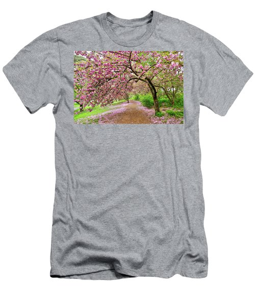 Central Park Cherry Blossoms Men's T-Shirt (Athletic Fit)