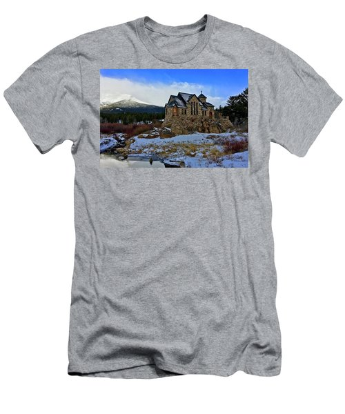 Men's T-Shirt (Athletic Fit) featuring the photograph Chapel On The Rock by Dan Miller