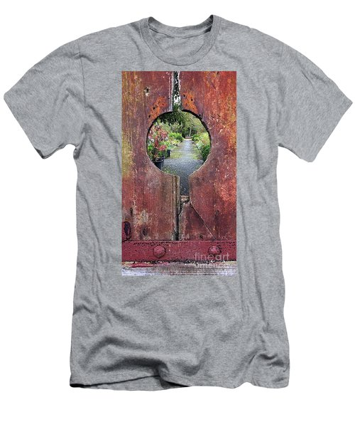 Men's T-Shirt (Athletic Fit) featuring the painting Check In Here by Val Byrne
