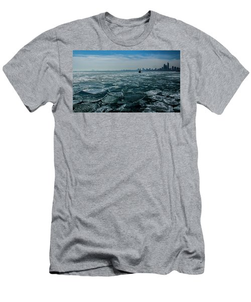 Chicago In Winter Men's T-Shirt (Athletic Fit)