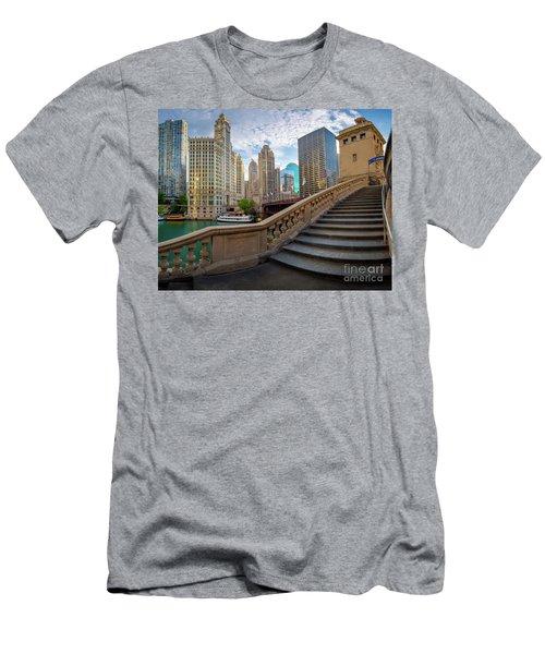 Chicago Riverwalk  Men's T-Shirt (Athletic Fit)