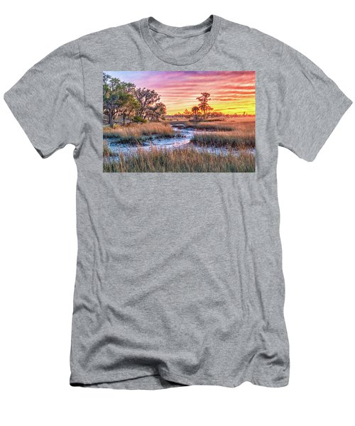 Chisolm Island Marsh Sunset Men's T-Shirt (Athletic Fit)