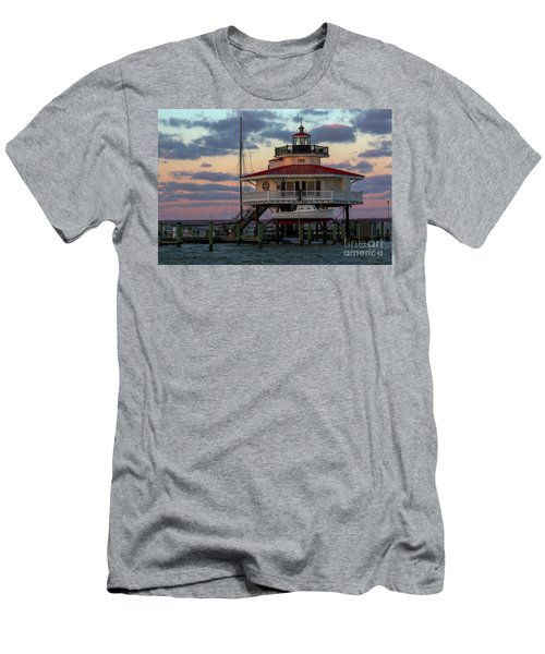 Choptank River Light At Sunset Men's T-Shirt (Athletic Fit)