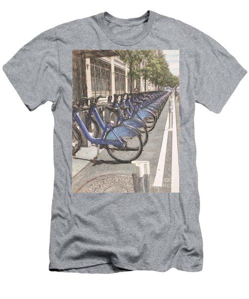 City Bikes Nyc Men's T-Shirt (Athletic Fit)