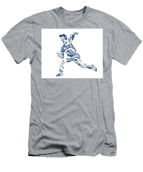 Clayton Kershaw Los Angeles Dodgers Pixel Art 30 Men's T-Shirt (Athletic Fit)