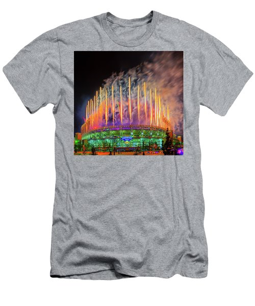Cleveland Baseball Fireworks Awesome Men's T-Shirt (Athletic Fit)