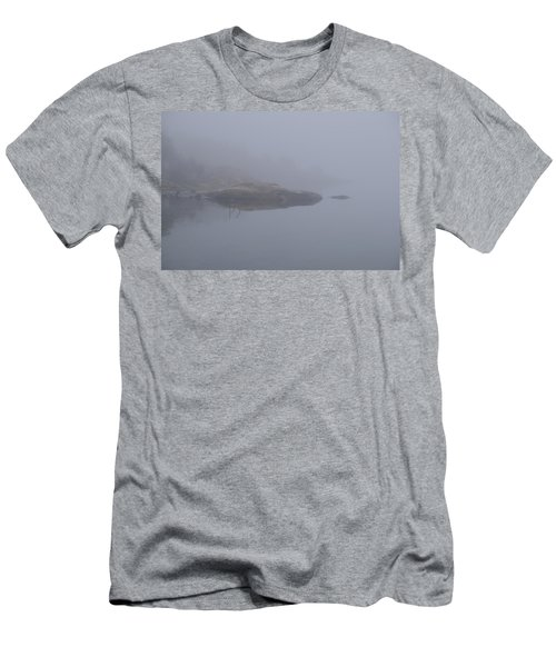 Cliffs In Fog Men's T-Shirt (Athletic Fit)